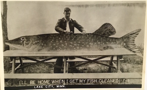 Unknown, 'I'll Be Home When I Get My Fish Cleaned Lake City, Minn. ', Mid-20th Century, Robert Mann Gallery