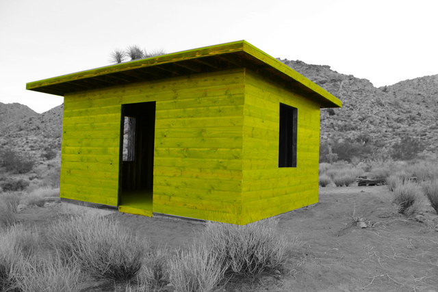 , 'Kent Ghost Cabin Green,' 2018, Joshua Tree Art Gallery