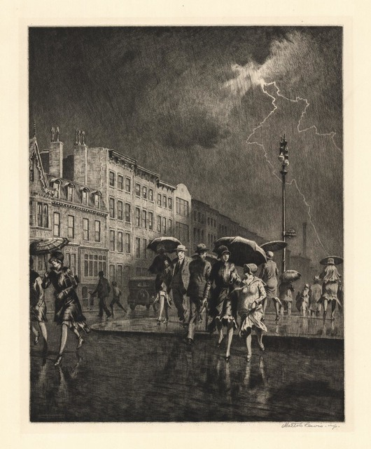 , 'Break in the Thunderstorm.,' 1930, The Old Print Shop, Inc.