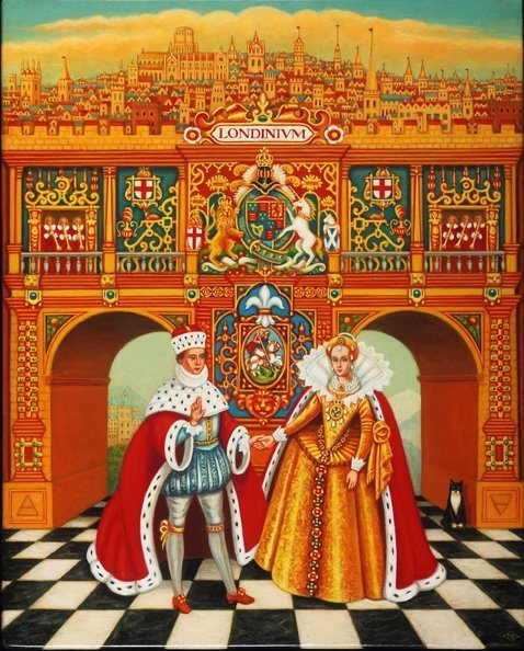 , 'The Winter King and Queen,' 2016, Portal Painters