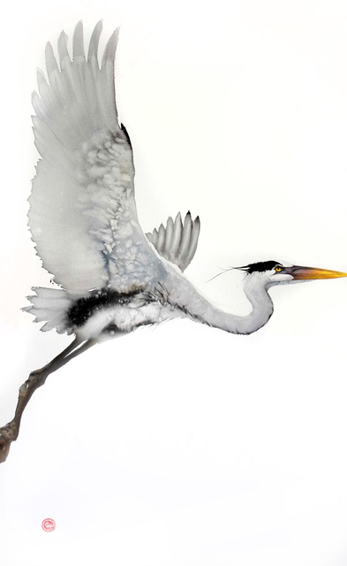 , 'Heron,' , Cricket Fine Art