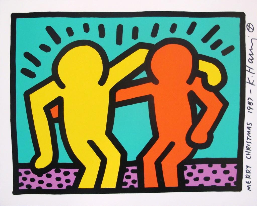 Keith Haring   Pop Shop 1 (Best Buddies) (1987)   Artsy