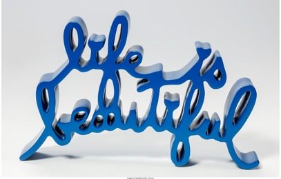 Life is Beautiful Sculpture (Blue)