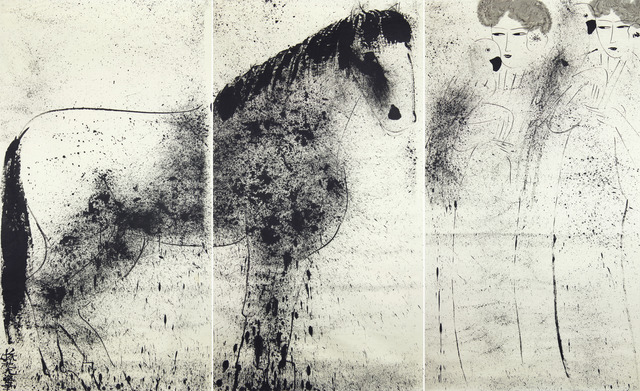 , 'Horse with Two Ladies ( Triptych),' ca. 1980, Longmen Art Projects