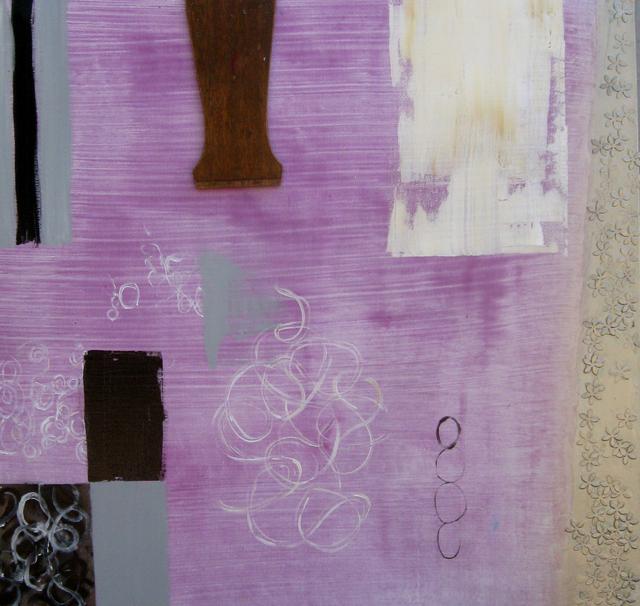 Michaele LeCompte, 'Falling Flowers', 2014, Painting, Mixed Media, JAYJAY