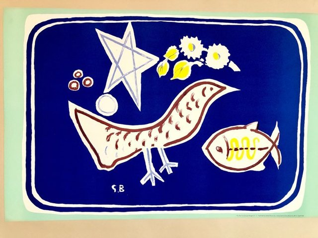 Georges Braque, 'Georges Braque School Prints Bird, Fish, Star, Modernist Drawing Lithograph', 1940-1949, Lions Gallery
