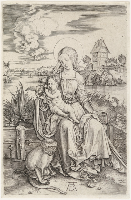 , 'MADONNA AND CHILD WITH THE MONKEY,' ca. 1498, Christopher-Clark Fine Art