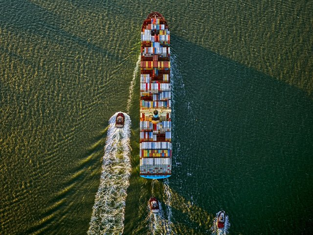 Jeffrey Milstein, 'Container Ship and Tugs, Upper Bay, NY', 2019, Bau-Xi Gallery
