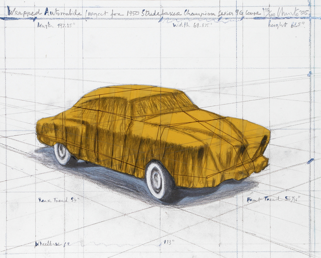 Christo, 'Wrapped Automobile (Project for 1950 Studebaker Champion Series)', 2015, RoGallery