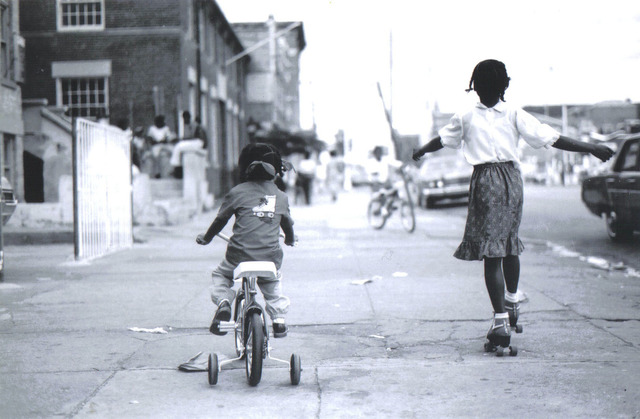 , 'Girls on Bike and Skates,' ca. 1980, Richard Beavers Gallery