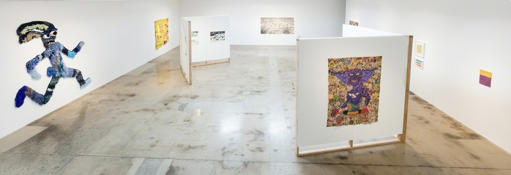 Through-Line: Drawing and Weaving by 19 Artists. Installation view, Steve Turner, Los Angeles, 2018
