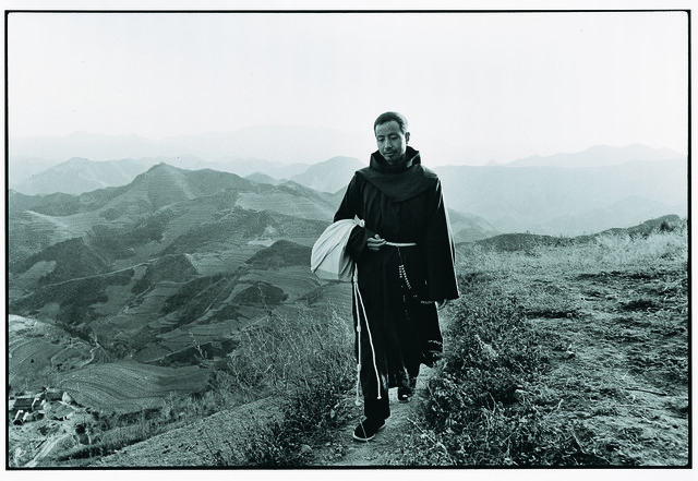 , 'A Franciscan Walking on His Way to do Missionary Work,' 1995, Hive Center for Contemporary Art