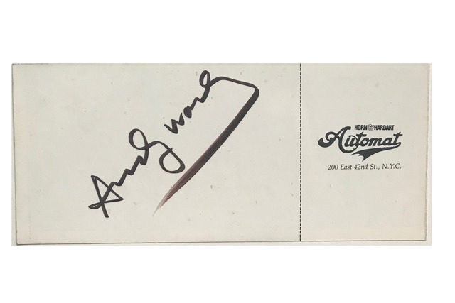 """Andy Warhol, '""""You're Invited to a Party"""", 1981, SIGNED, 2-Invitations / Tickets,  Fundraiser Lighthouse for the Blind, Horn & Hart Automat Restaurant NYC.', 1981, VINCE fine arts/ephemera"""