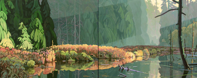 , 'Beaver Pond (Diptych) ,' , Madrona Gallery