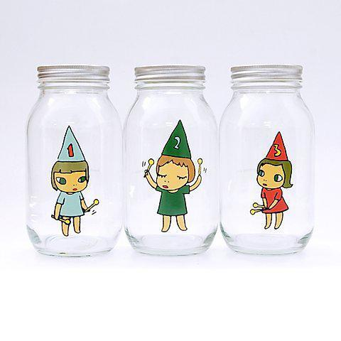 Yoshitomo Nara, 'Girl Storage Jar (450 mL; Green, Red, Blue)', 2010-2020, Design/Decorative Art, Glass, tinplate & PVC compound, Curator Style
