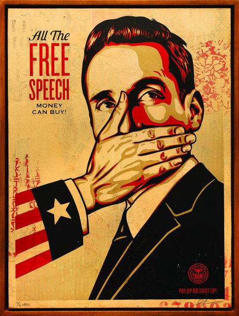 Shepard Fairey (OBEY), 'Pay Up or Shut Up', 2015, Underdogs Gallery