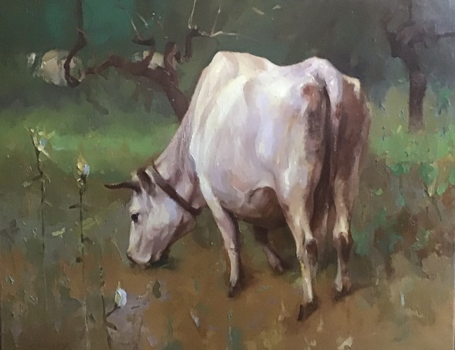 Paul Rahilly, 'Young Italian Cow', 2001, Painting, Oil on canvas, Gallery NAGA