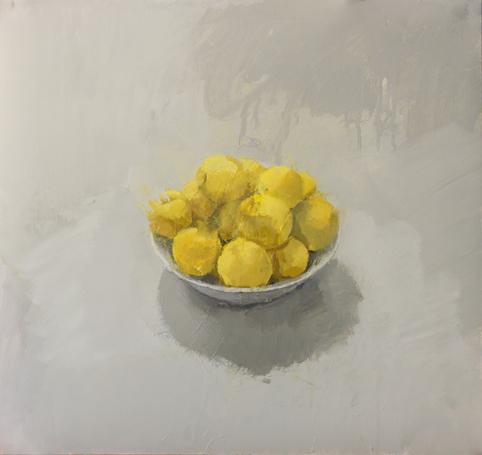 """, '""""Cuenco con ciruelas amarillas"""",' 2017, Sala Parés"""
