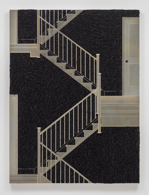 , 'Pleated Ink, Staircase with Landing,' 2017, Sprüth Magers