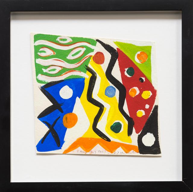 , 'Sketch for Cara Dos Mil,' 1987, Rosamund Felsen Gallery