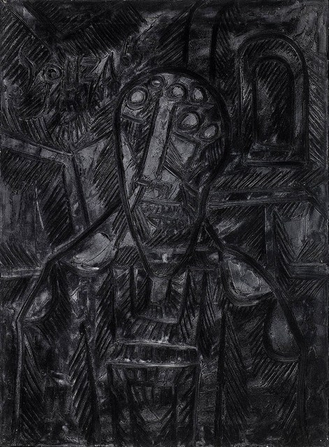 , 'Bust of a man before an arched window,' 1965, Grosvenor Gallery