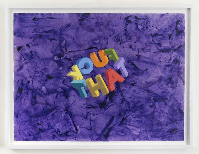 , 'Fuck That,' 2017, Joshua Liner Gallery
