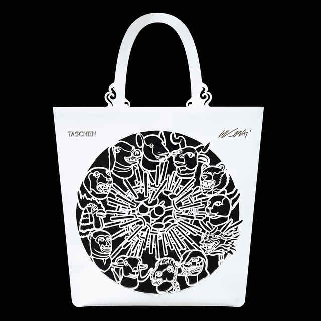Ai Weiwei, 'The China Bag (Zodiac) Bag', 2020, Fashion Design and Wearable Art, Red PVC bag with transparent inlay, Artware Editions