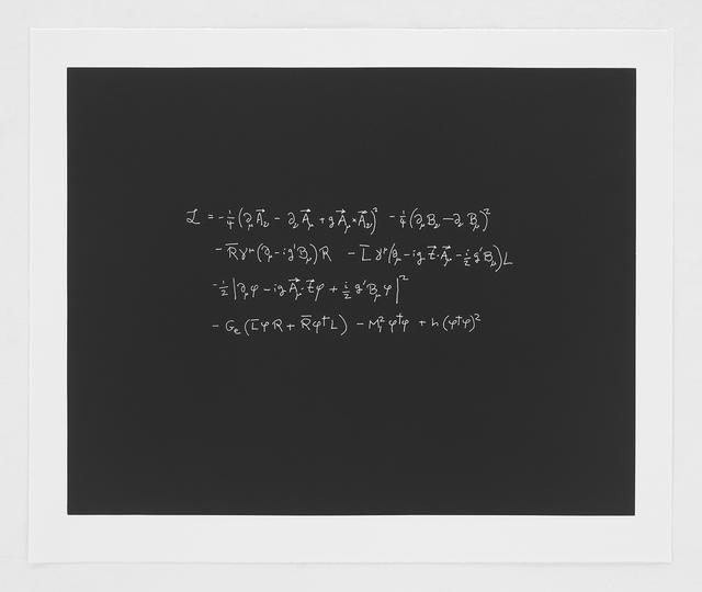 Steven Weinberg, 'The Langragian of the Electroweak Theory', 2014, Bernard Jacobson Gallery
