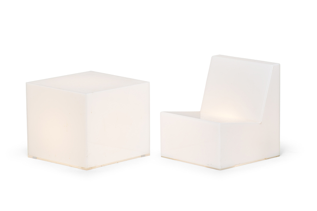 James Hyde, 'End Glow Table and Glow Chair (mini)', 2000, Rago