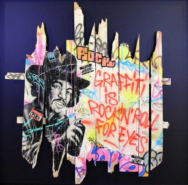 Onemizer, 'Graffiti is rock'n'roll for eyes', 2019, Galerie Perahia