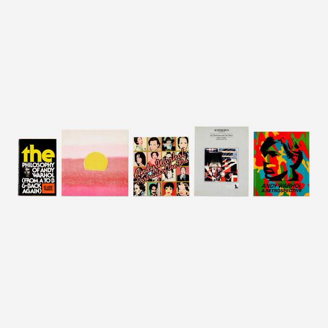 Andy Warhol, 'collection of five books', 1975-2008, Rago/Wright