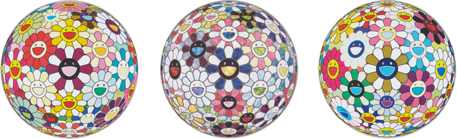 Takashi Murakami, 'Flower Ball (3-D) Autumn 2004; Flowerball sexual Violet No.1 (3D); and Right There, The Breadth of the Human Heart', 2013, Phillips