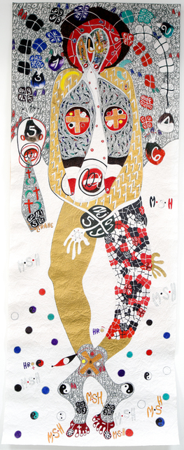 , 'FOOT PRINTS ACE OF SPADE @ YA FO LOGOS, YA FO LOGOS, YA FO LOGOS?,' 2018, LouiSimone Guirandou Gallery