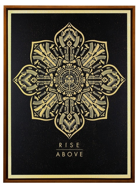 Shepard Fairey (OBEY), 'RISE ABOVE CALIBER', 2016, Rush Philanthropic Arts Foundation Benefit Auction