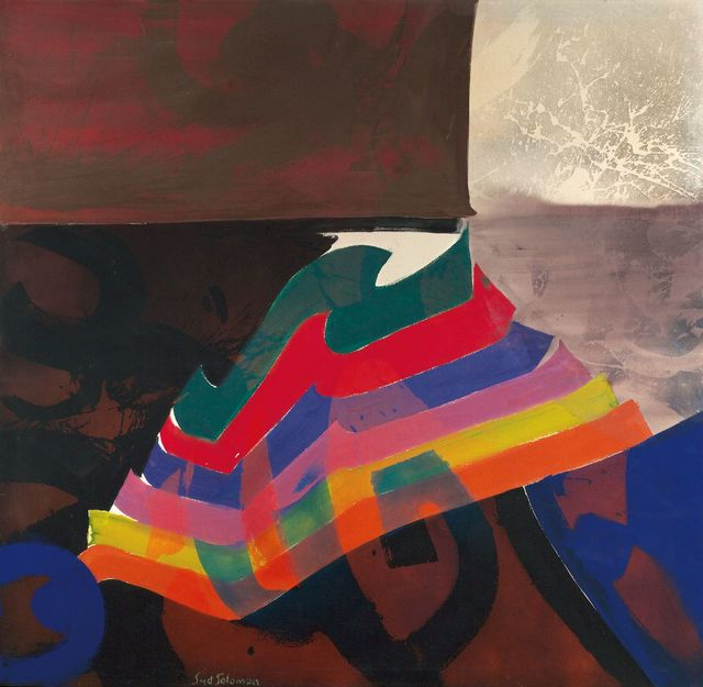 Syd Solomon, 'Stratalure', 1980, Painting, Acrylic and aerosol enamel on canvas, Berry Campbell Gallery
