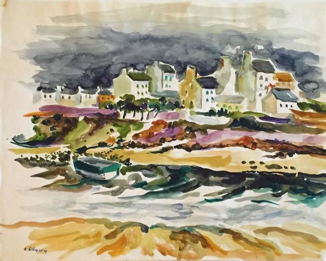 Katherine Librowicz, 'Village Harbour', 20th Century, Lions Gallery