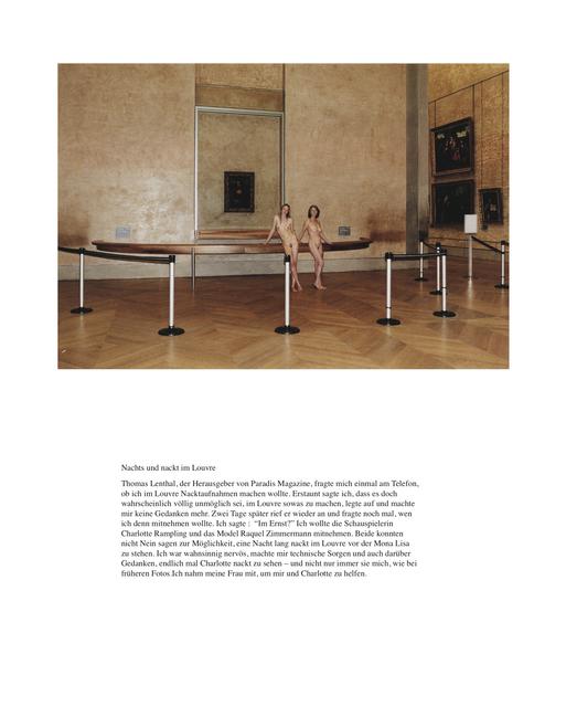 , 'Nachts und nackt im Louvre,' 2009, Christine König Galerie