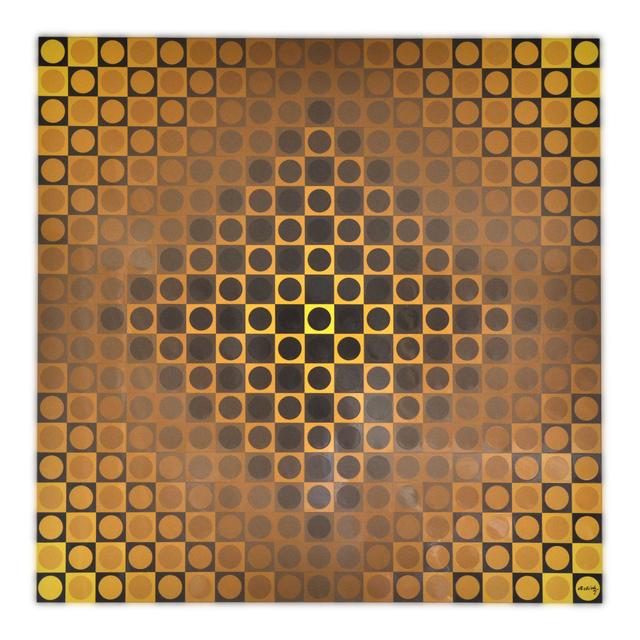 Victor Vasarely, 'Alom Yellow/Yellow', 1971, Queen Fine Arts