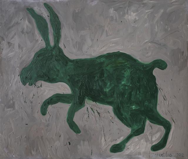 , 'Green Hare,' 2012, iPreciation