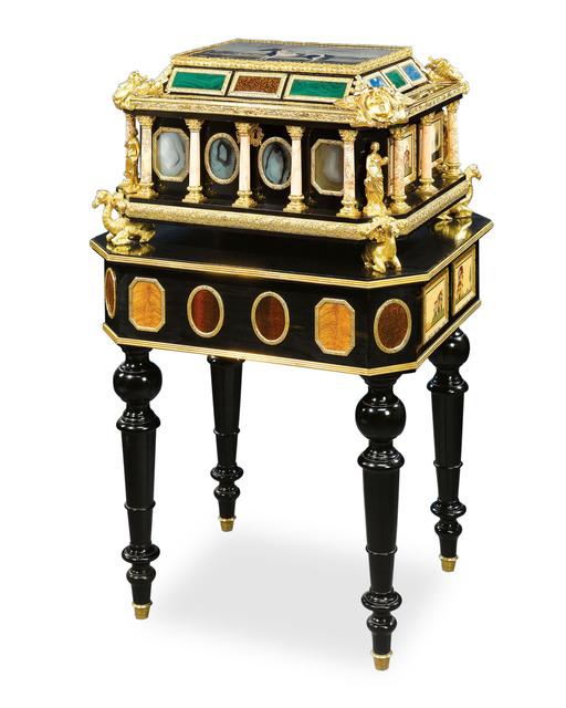 , 'PIETRE DURE CASKET,' ca. 1840, M.S. Rau Antiques
