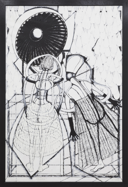 KlausRinke, 'Looking back into the theater of human history', 2016, Thomas Brambilla