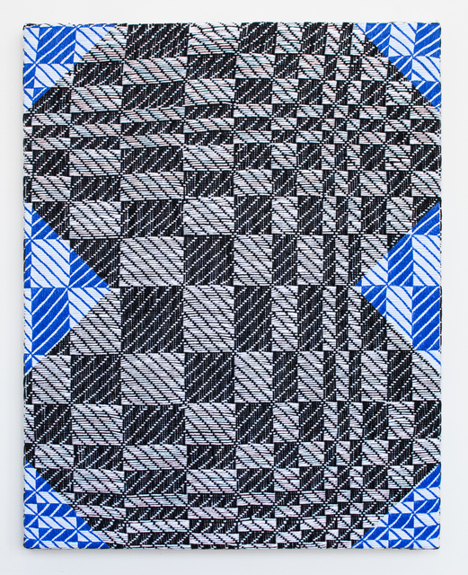Samantha Bittman, 'Untitled', 2019, Painting, Acrylic on hand woven textile, Morgan Lehman Gallery