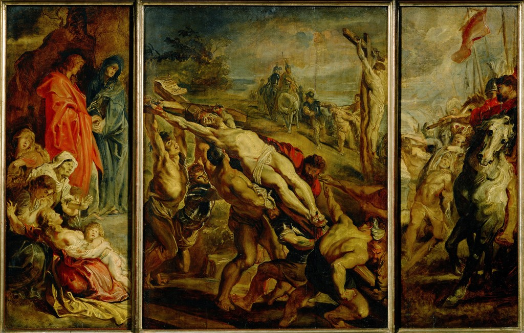analysis on peter paul rubens raising of the cross