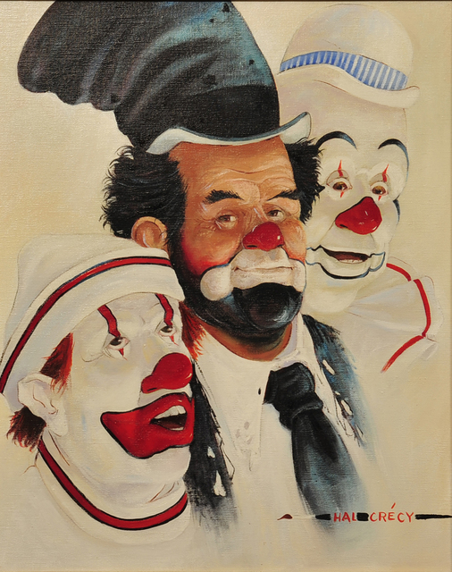 Hal Crecy, '3 Clowns', The Illustrated Gallery