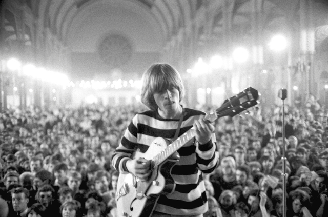, ''A Concentrated Solo', Brian Jones around 4am, at 'All-Nighter', Alexandra Palace, London,' 1964, ElliottHalls