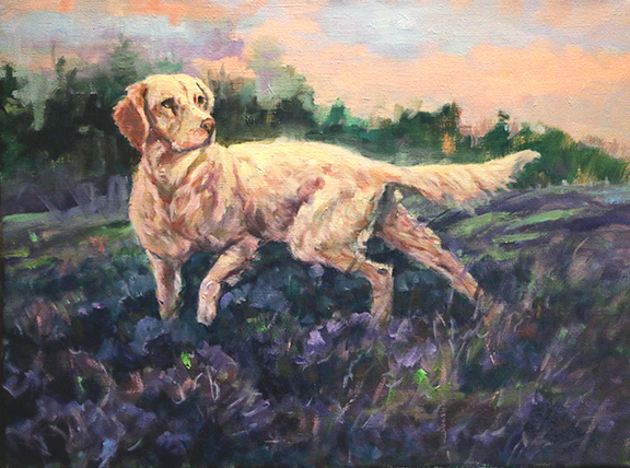 , 'Setter in the Heather,' , Beverly McNeil Gallery