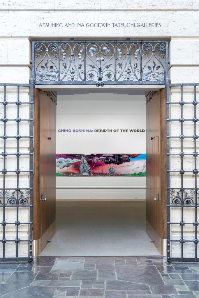 Installation view of Chiho Aoshima: Rebirth of the World, 2015. Photo Joshua White, courtesy of Seattle Art Museum.