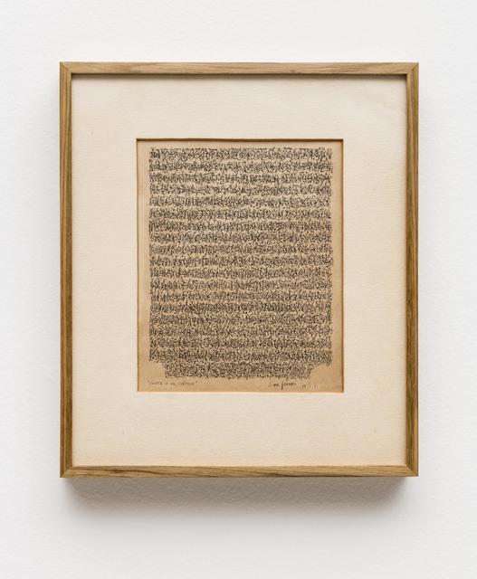 León Ferrari, 'Carta a un Poético', 1961, Bergamin & Gomide