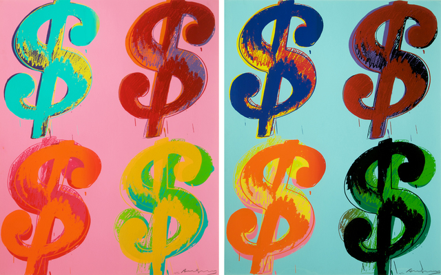 Andy Warhol, '$ (4) (Portfolio of 2)', 1982, Print, Unique Screenprints on Lenox Museum Board, Collectors Contemporary