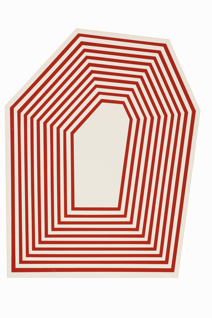 , 'Untitled (Hexagon Maroon Stripes),' 2012, Anglim Gilbert Gallery